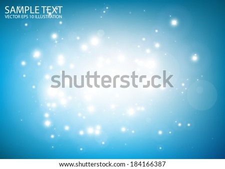 Glittering blue shine space vector background illustration - Vector abstract blue  shiny   template background - stock vector