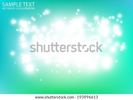 Glittering blue space vector background illustration  - Vector abstract blue sparkles  template background - stock vector