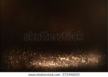 Glittering dust particles vector background. Vector eps10 - stock vector