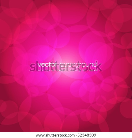 Glittering purple and pink lights background with text - vector illustration - stock vector