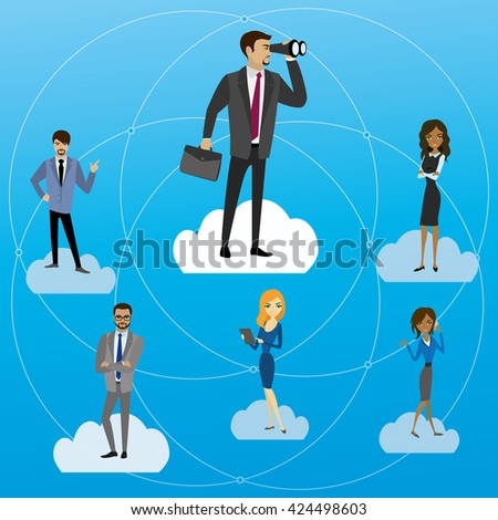 Global Business, concept vector illustration. - stock vector