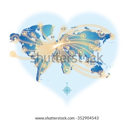 GLOBAL COMMUNICATION (from Paris) - stock vector