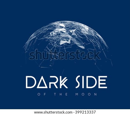 Global communication in the sphere form - stock vector