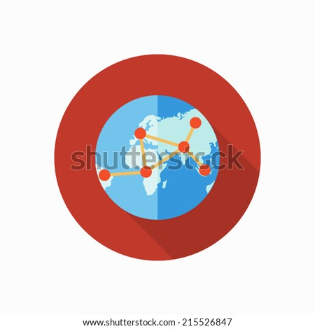 global connect icon illustration - stock vector