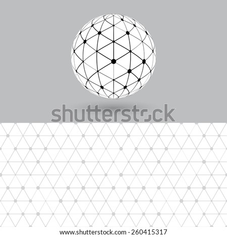 Global digital connections network. vector abstract connection p - stock vector