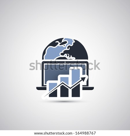 Global Growth / Icon Concept Design - stock vector