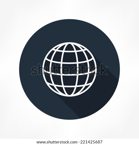global icon - stock vector