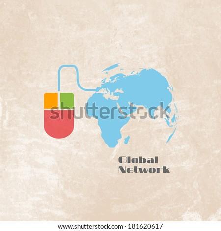 Global Network - stock vector