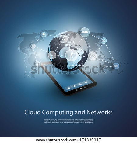 Global Networks, Cloud Computing | Eps 10 Vector for Your Business - stock vector