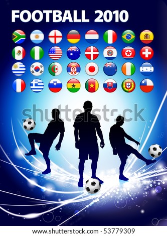 Global Soccer Event on Abstract Light Background Original Illustration - stock vector