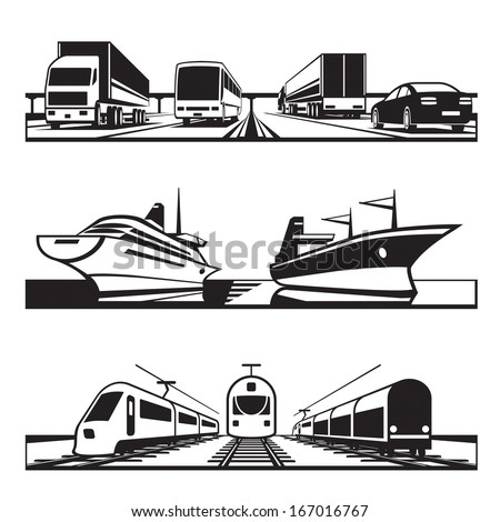 Global transportation set - vector illustration - stock vector