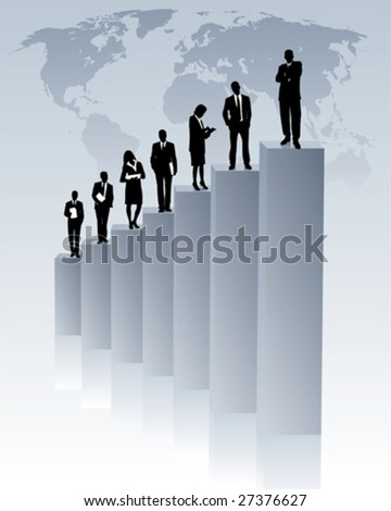 global upward trend - stock vector
