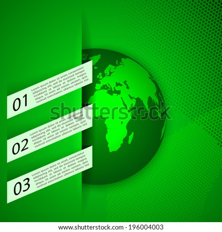 Global warming abstract background. Eco signs  illustration. EPS10 - stock vector