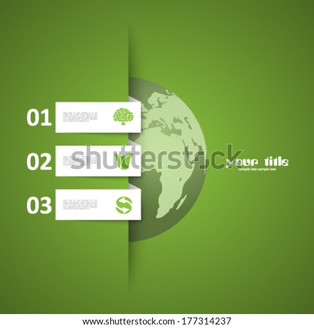 Global warming background / Eco signs   - stock vector