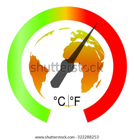 Global Warming. Vector illustration - stock vector