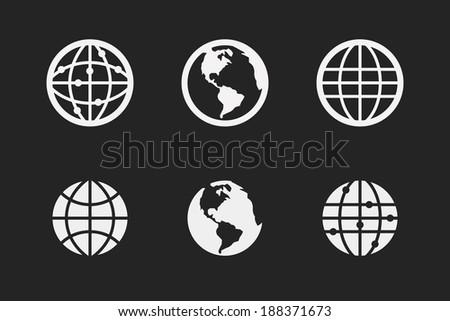 Globe earth  - stock vector