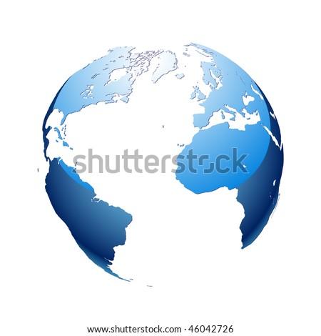 Globe. Earth. - stock vector