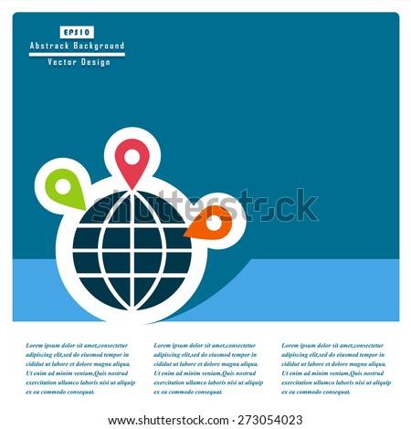 Globe earth flat icons. Vector Concept. - stock vector