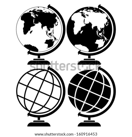 Globe earth vector - stock vector