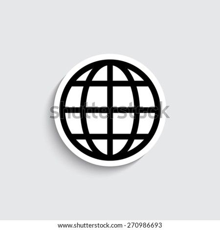 Globe earth - vector icon - stock vector