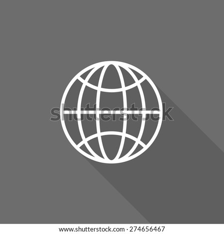 Globe flat icon. vector illustration - stock vector