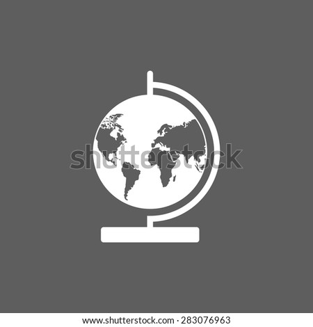 globe icon - stock vector