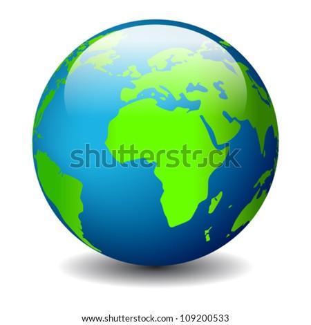 Globe icon, eps10 illustration - stock vector