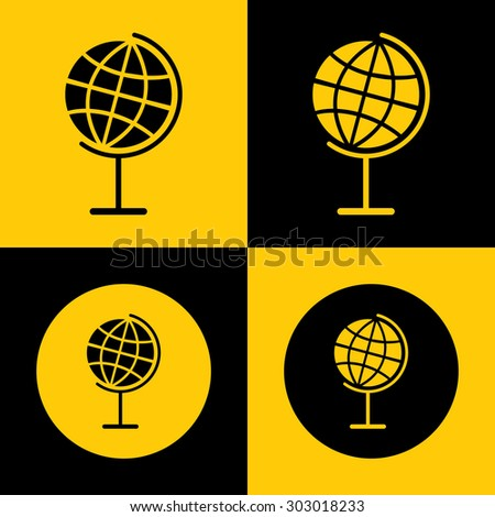 Globe Icon for Web & Mobile. Eps-10. - stock vector