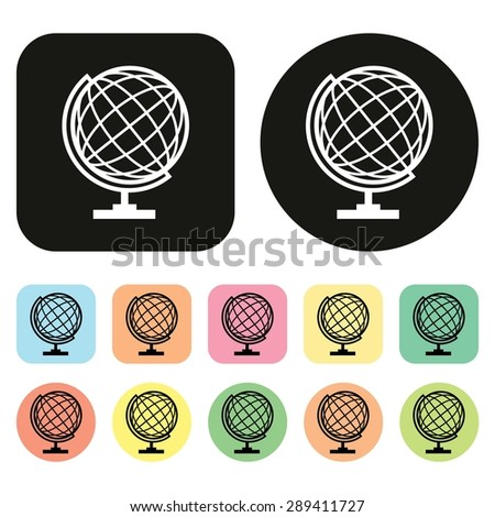 Globe icon. Global icon. Earth icon. World icon. Vector - stock vector