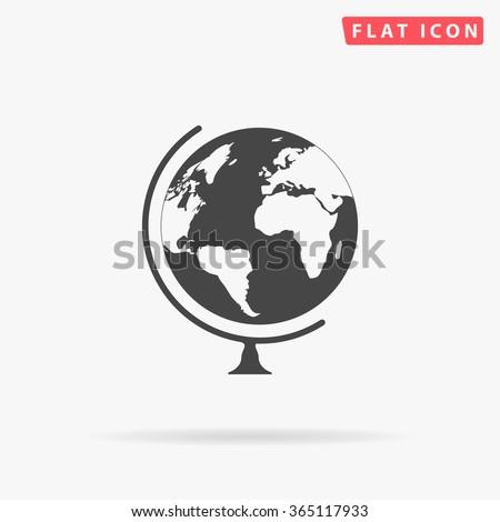 Globe Icon Vector.  - stock vector