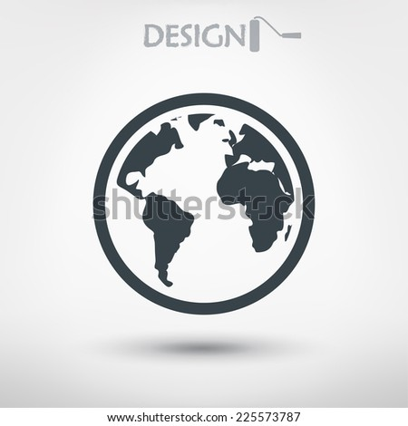 globe  icon, vector illustration. Flat design style  - stock vector