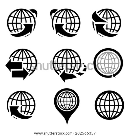 Globe icons vector. - stock vector