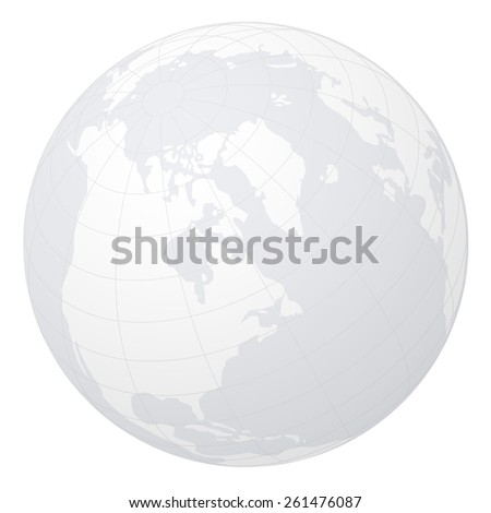 Globe on white background. - stock vector