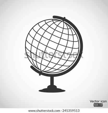 globe vector icon - stock vector