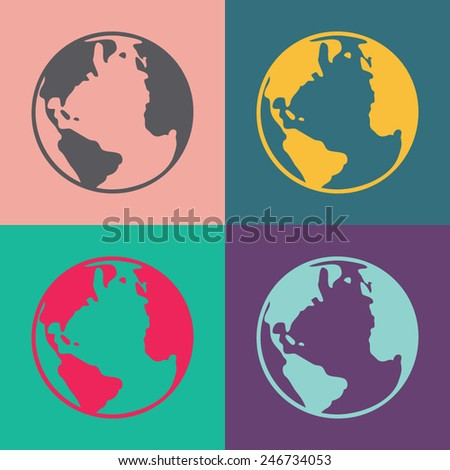 Globe vector icon. - stock vector