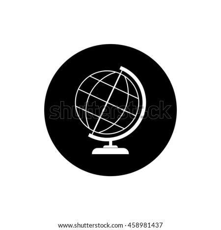 Globe vector icon - stock vector