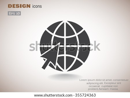 Globe web icon. vector design - stock vector