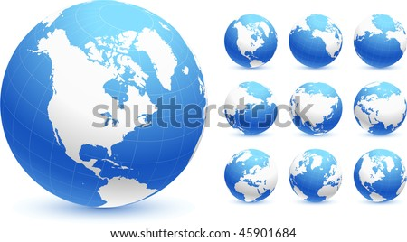 globes Original Vector Illustration Globes and Maps Ideal for Business Concepts - stock vector
