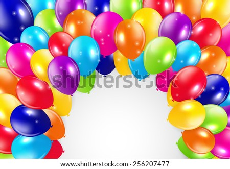 Glossy Balloons Background Vector Illustration EPS - stock vector