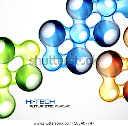 Glossy bubble abstract background - stock vector