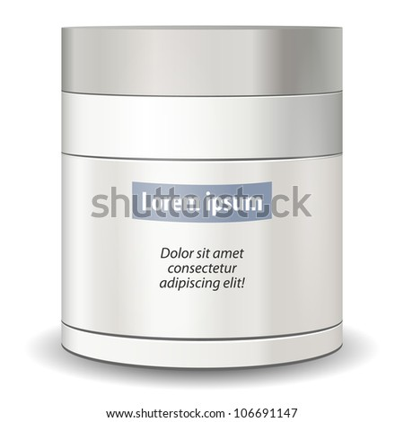 Glossy cosmetic container - stock vector