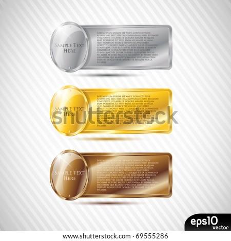 Glossy metal speech bubble (rich frame) - stock vector