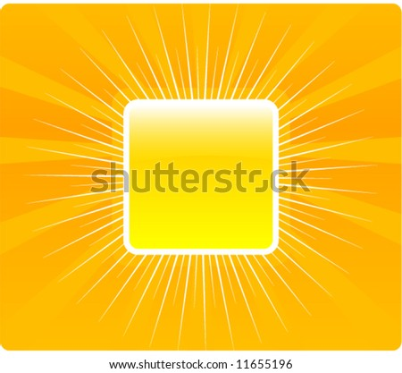 Glossy orange vector frame - stock vector