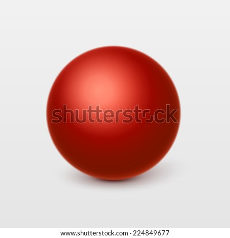 Glossy red sphere.Vector, isolated - stock vector