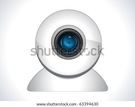glossy web cam icon vector illustration - stock vector