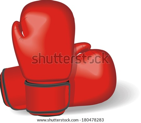gloves for boxing vector - stock vector