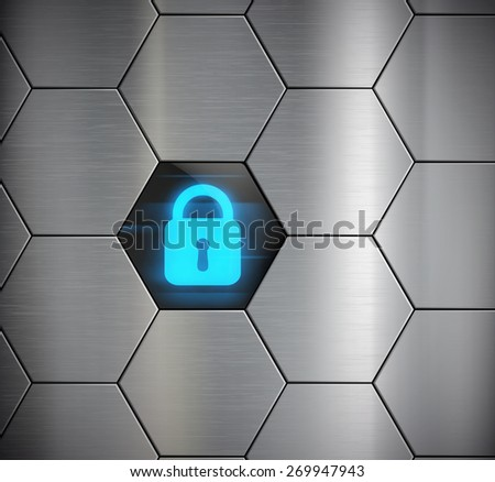 glowing clock security system. Vector image. - stock vector