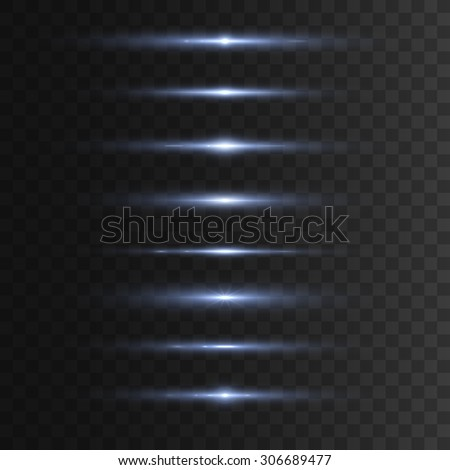 Glowing lights effects. Isolated on transparent background. Vector illustration, eps 10. - stock vector
