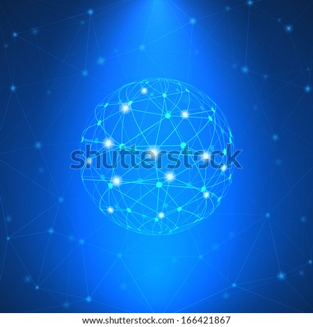 Glowing network sign vector illustration - stock vector
