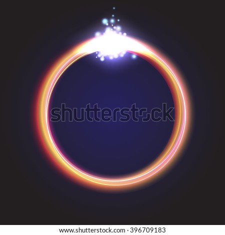 Glowing Rings - stock vector